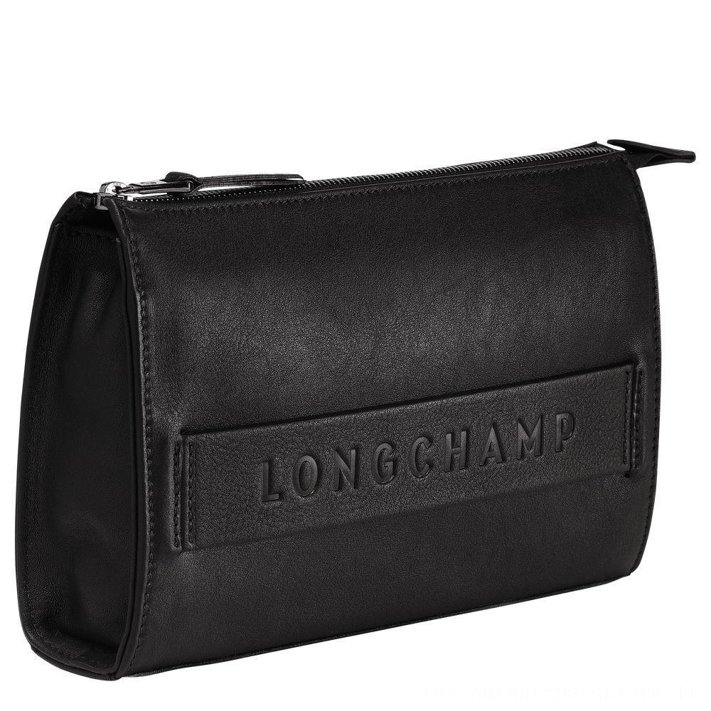 Longchamp 3D Etui high-tech - Noir Pas Cher