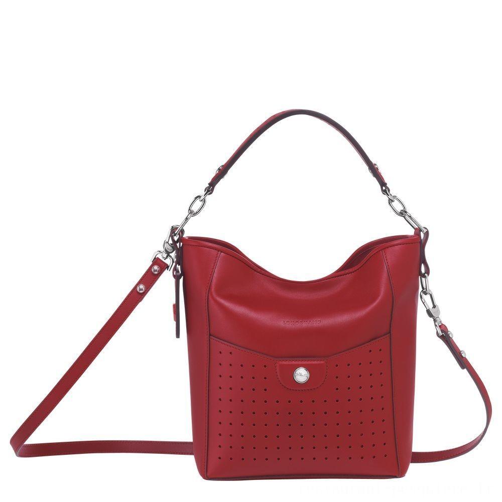 [Soldes] - Mademoiselle Longchamp Petit sac seau - Grenat