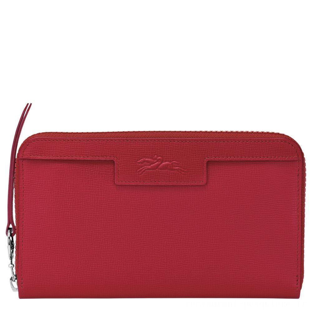[Soldes] - Le Pliage Néo Portefeuille long zippé - Rouge