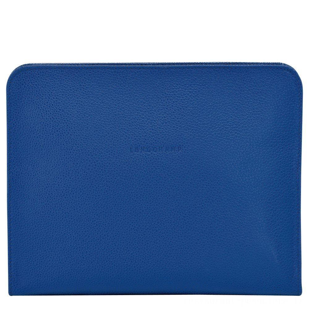 Le Foulonné Étui iPad® - Saphir Soldes