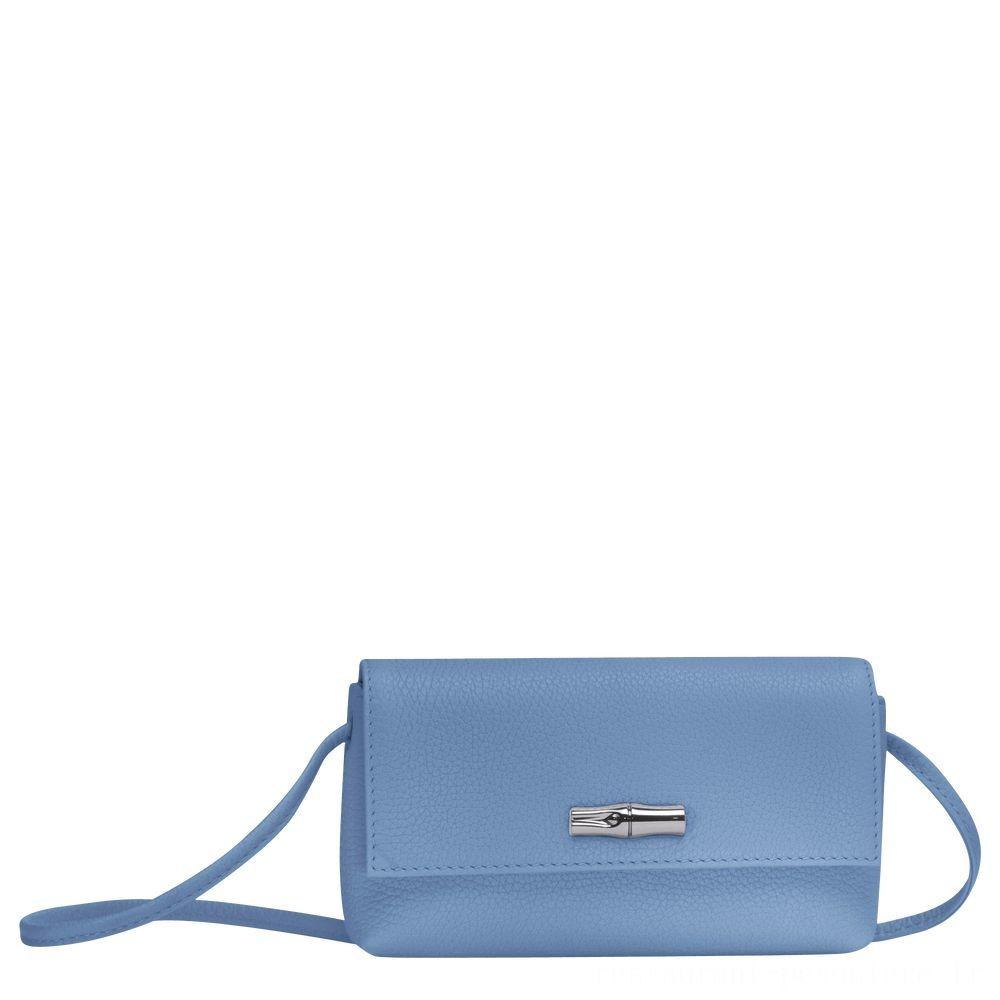 Roseau Pochette - Bleu Soldes