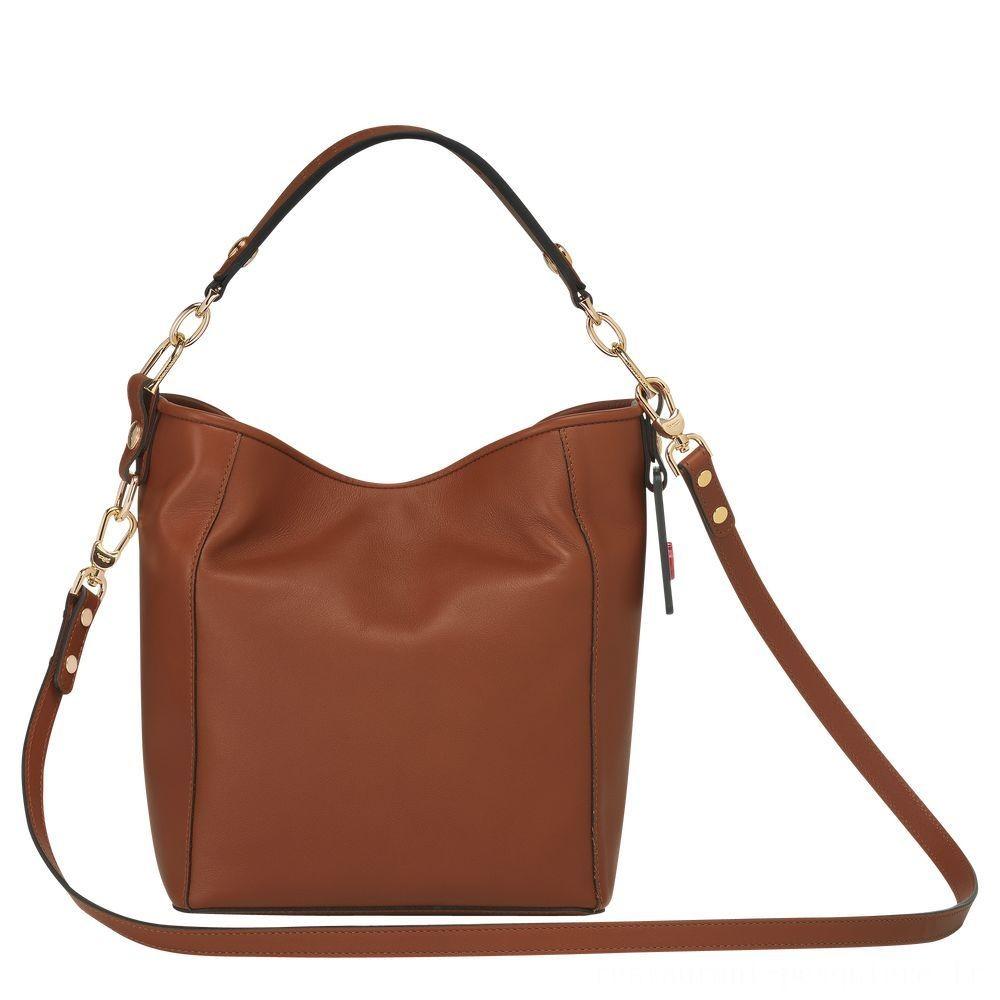[Vente] - Mademoiselle Longchamp Petit sac seau - Cognac