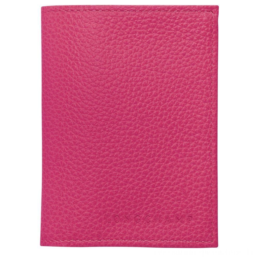 Le Foulonné Porte-cartes - Rose Soldes