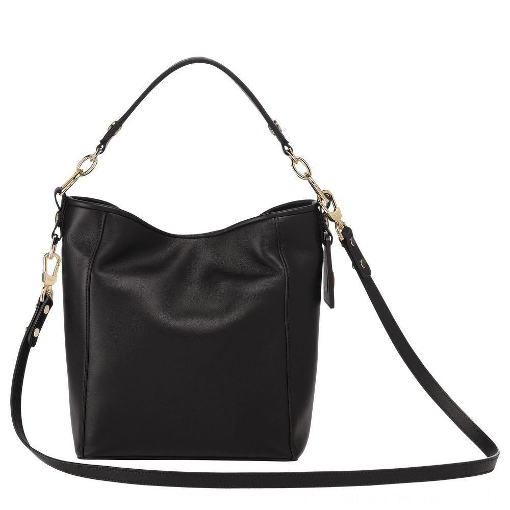 [Soldes] - Mademoiselle Longchamp Petit sac seau - Noir
