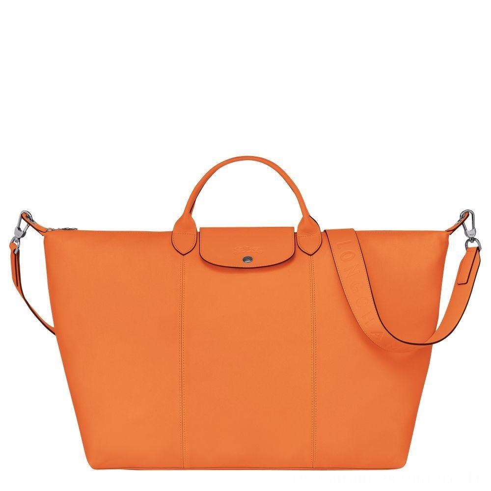 Le Pliage Cuir Sac de voyage - Orange Soldes