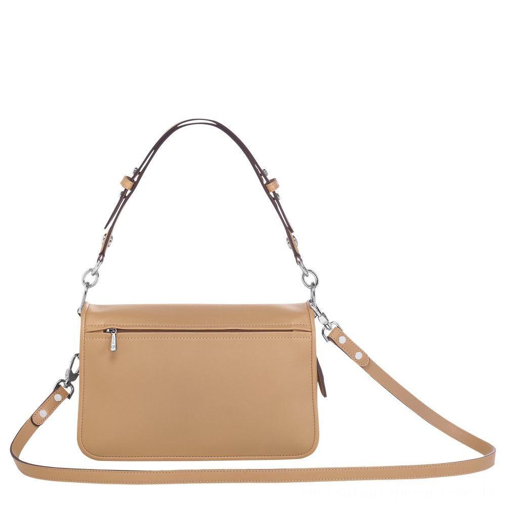 [Soldes] - Mademoiselle Longchamp Sac porté épaule - Beige