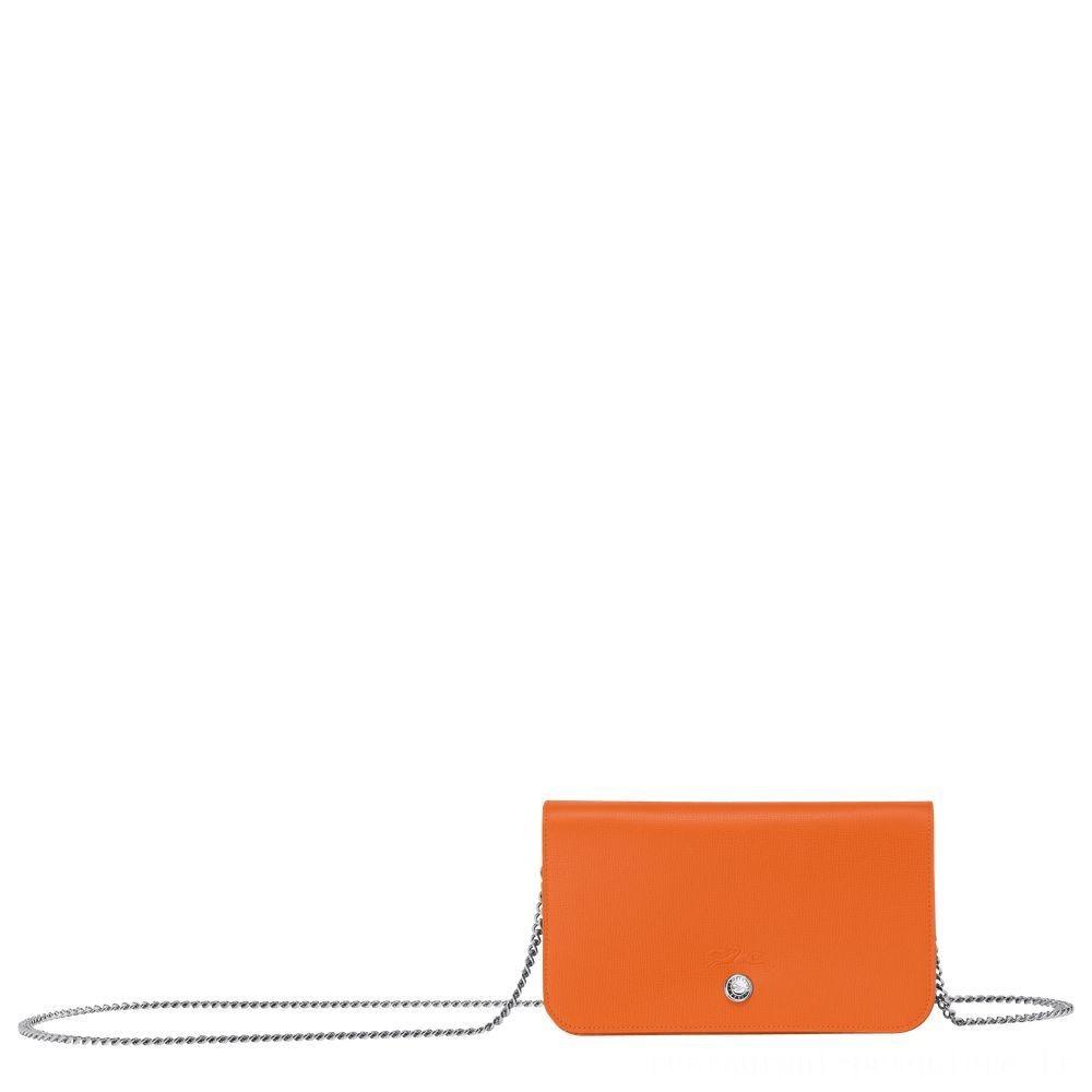 Le Pliage Néo Pochette chainette - Orange Pas Cher