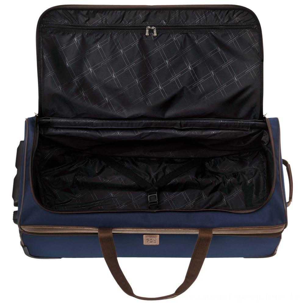 [Vente] - Boxford Sac de voyage à roulettes L - Bleu