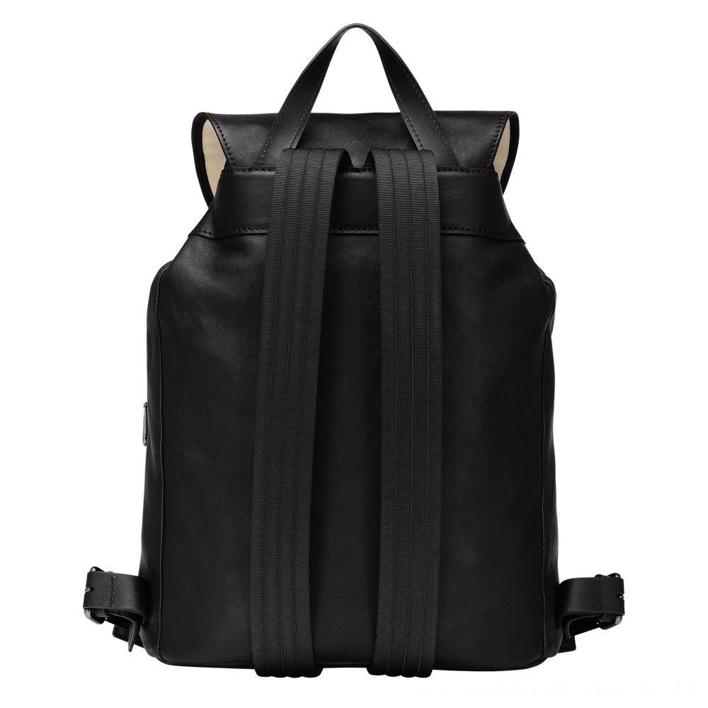 Longchamp 3D Sac à dos - Noir Pas Cher