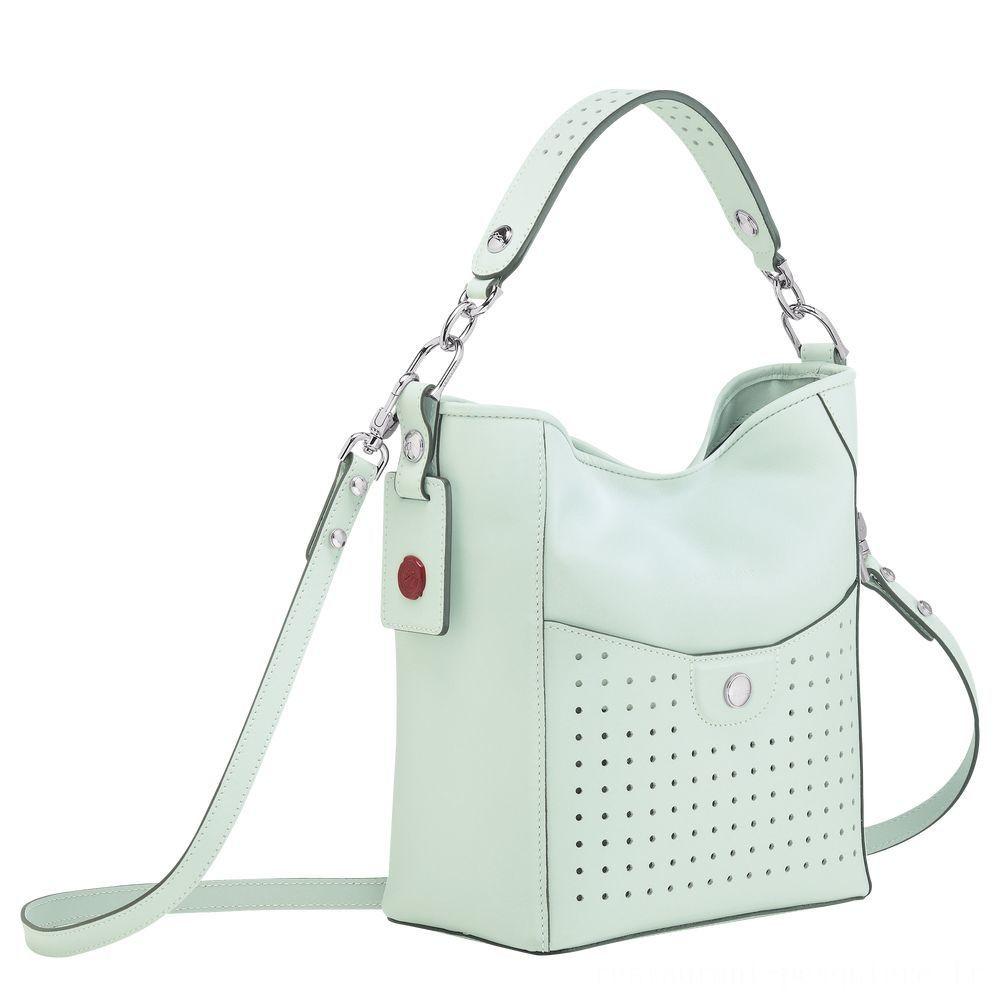 Mademoiselle Longchamp Petit sac seau - Céladon Soldes