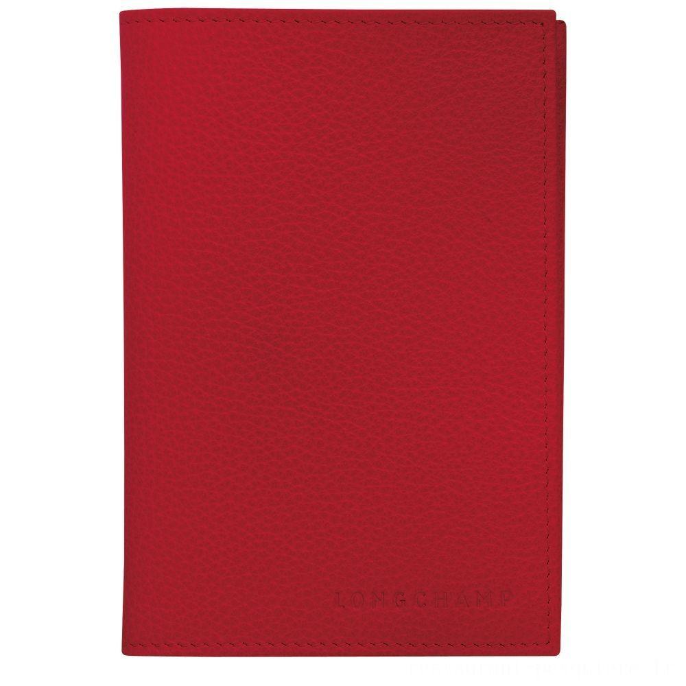 [Vente] - Le Foulonné Étui passeport - Rouge