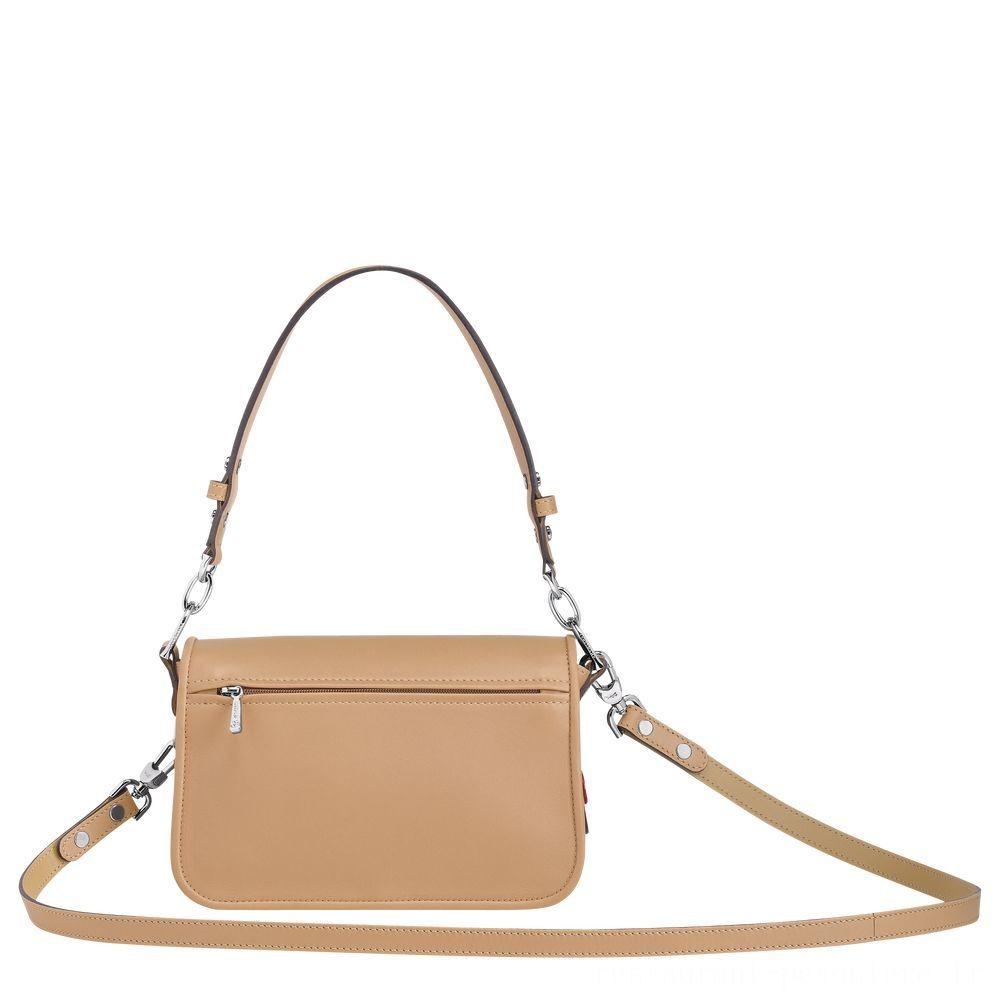 [Vente] - Mademoiselle Longchamp Sac porté épaule - Beige