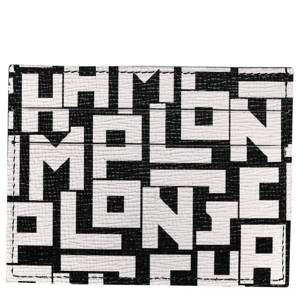 [Soldes] - Le Pliage LGP Porte-cartes - Noir/Blanc
