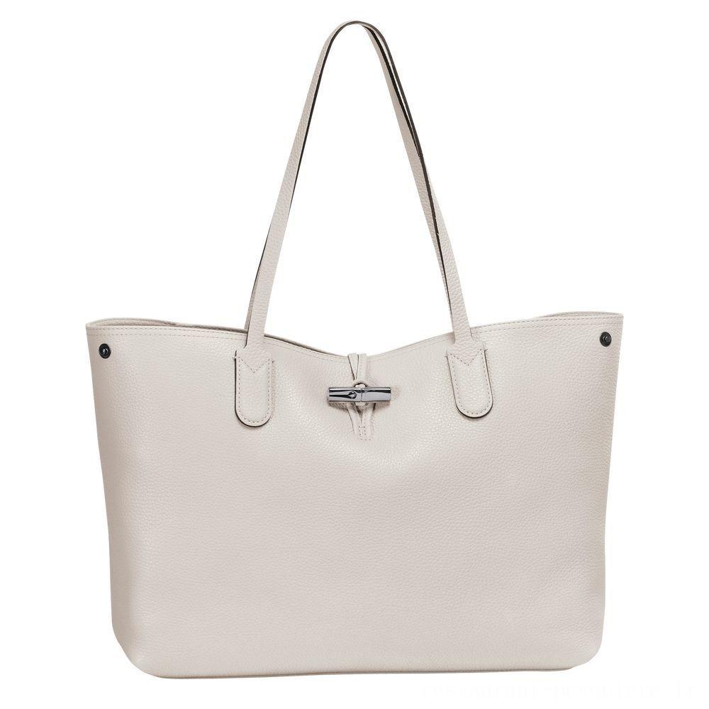 [Soldes] - Roseau Sac shopping L - Talc