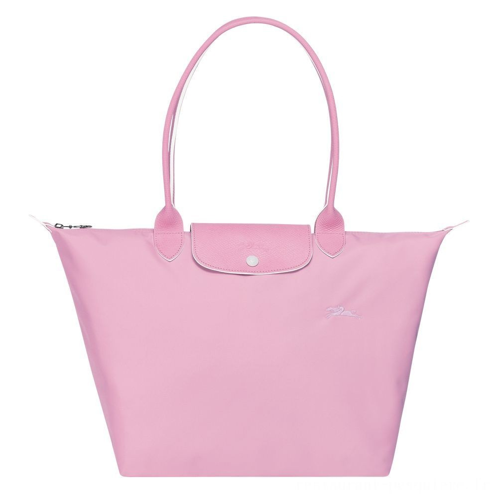 Le Pliage Club Sac porté épaule - Rose Pas Cher
