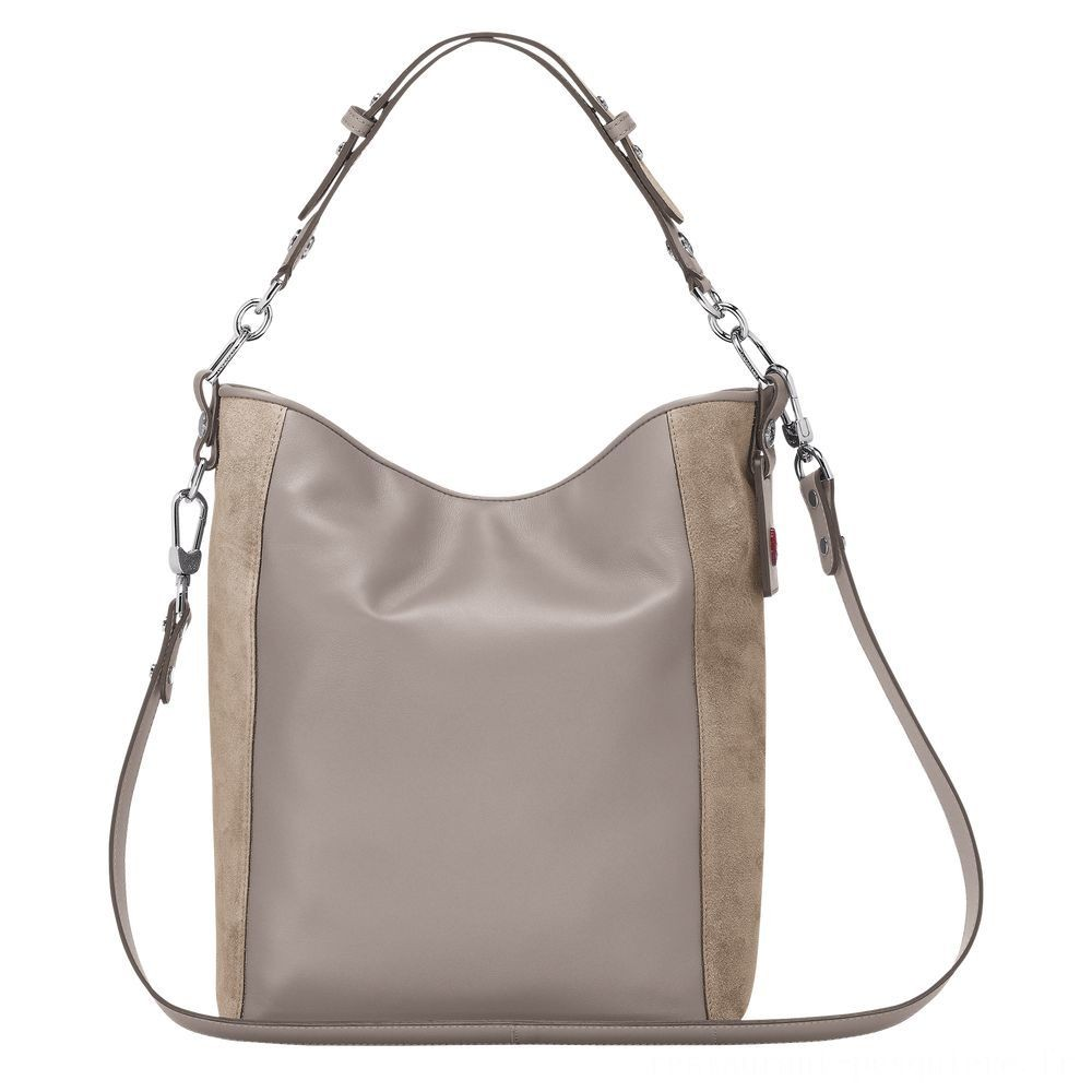 Mademoiselle Longchamp Besace - Sable Soldes