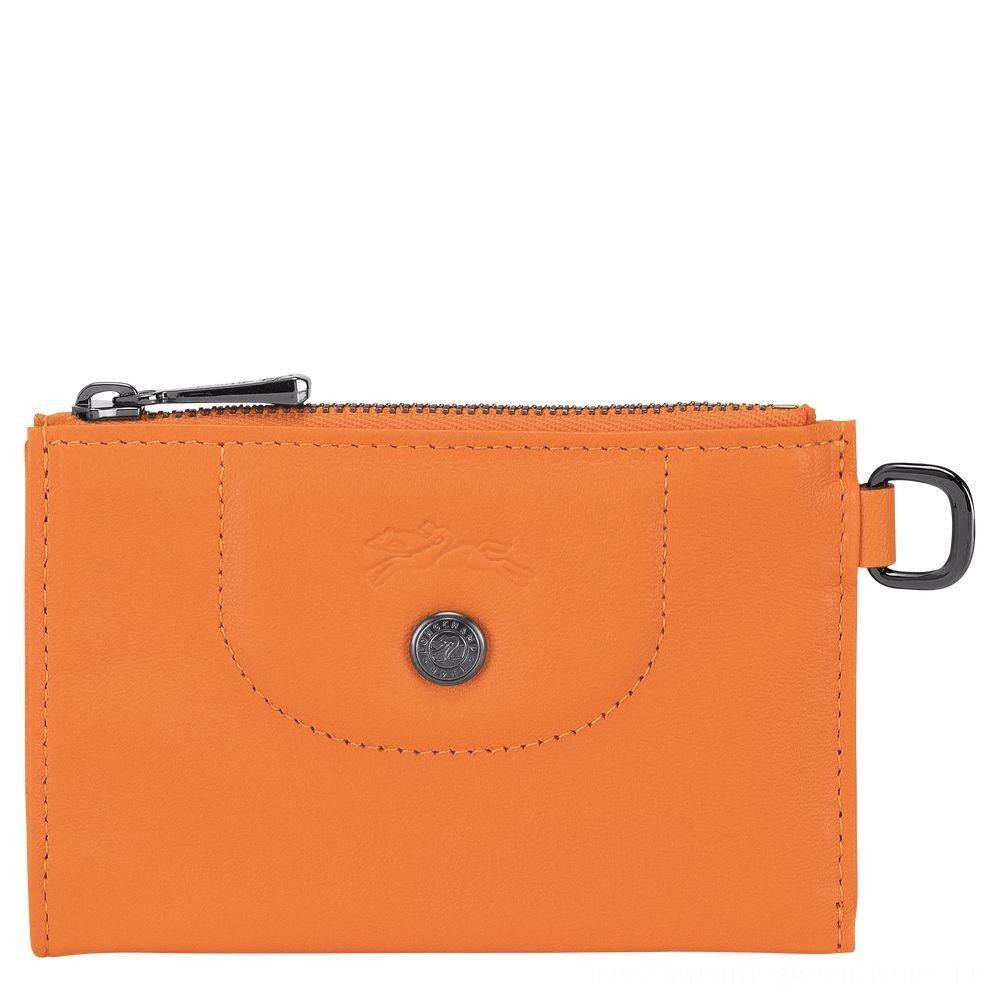 [Vente] - Le Pliage Cuir Etui clés - Orange