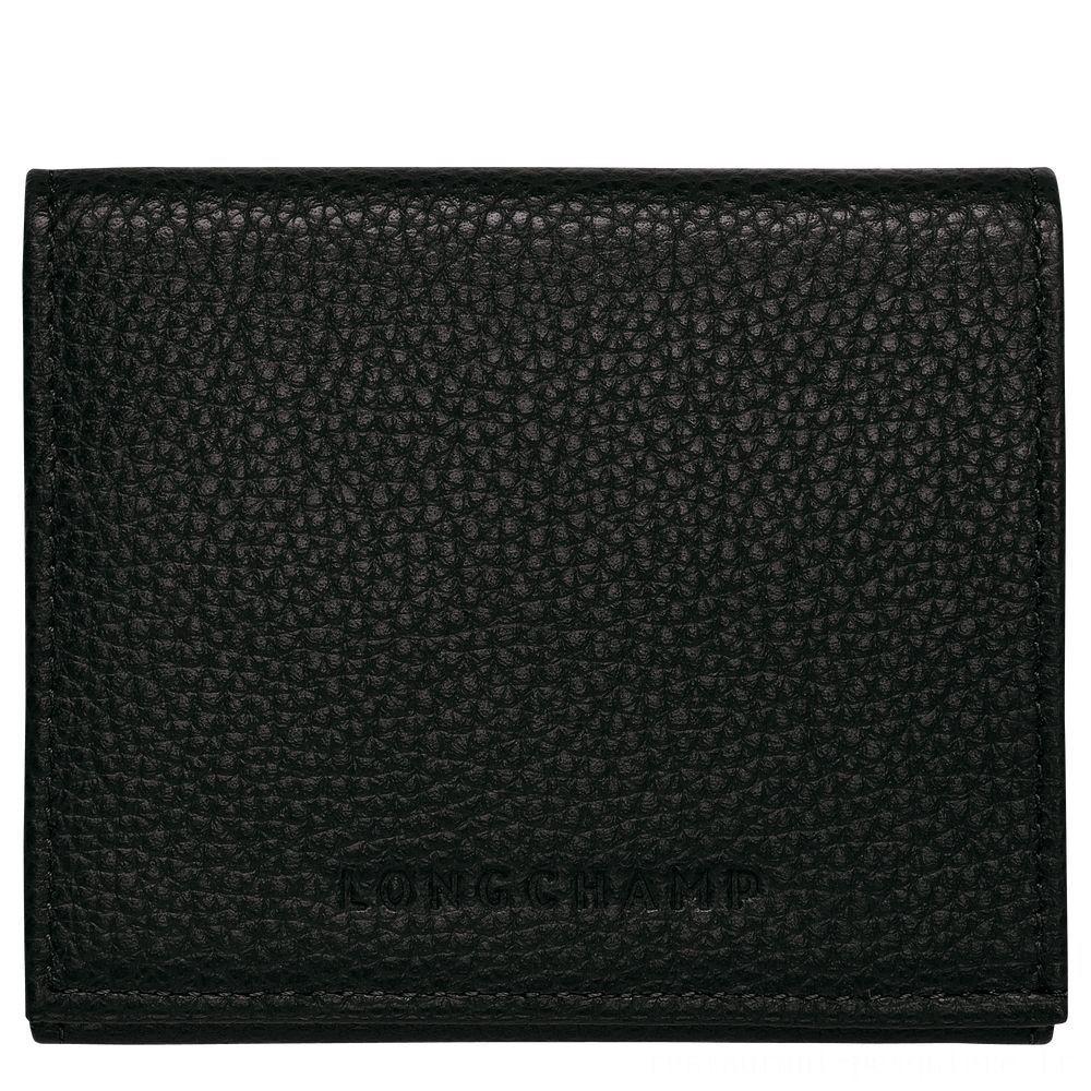 [Soldes] - Le Foulonné Porte monnaie - Noir
