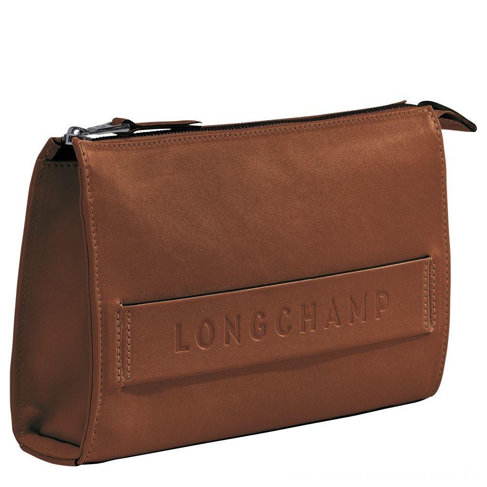 [Soldes] - Longchamp 3D Etui high-tech - Cognac