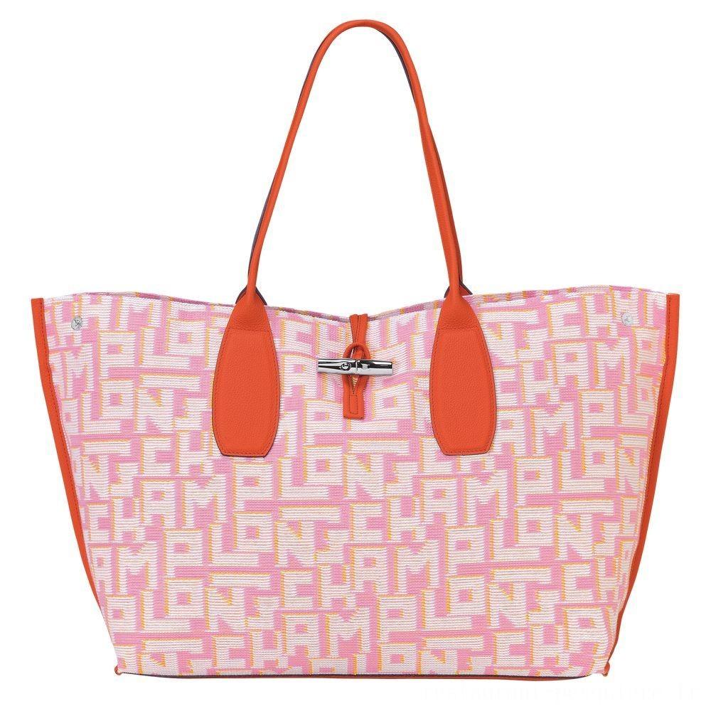 Roseau Sac shopping XL - Rose Pas Cher