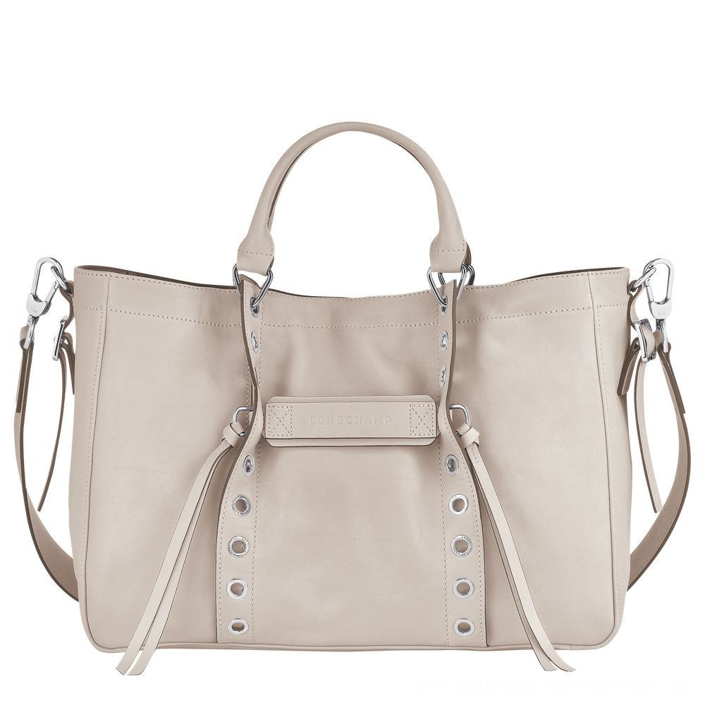 Soldes] - Longchamp 3D Sac porté main - Argile