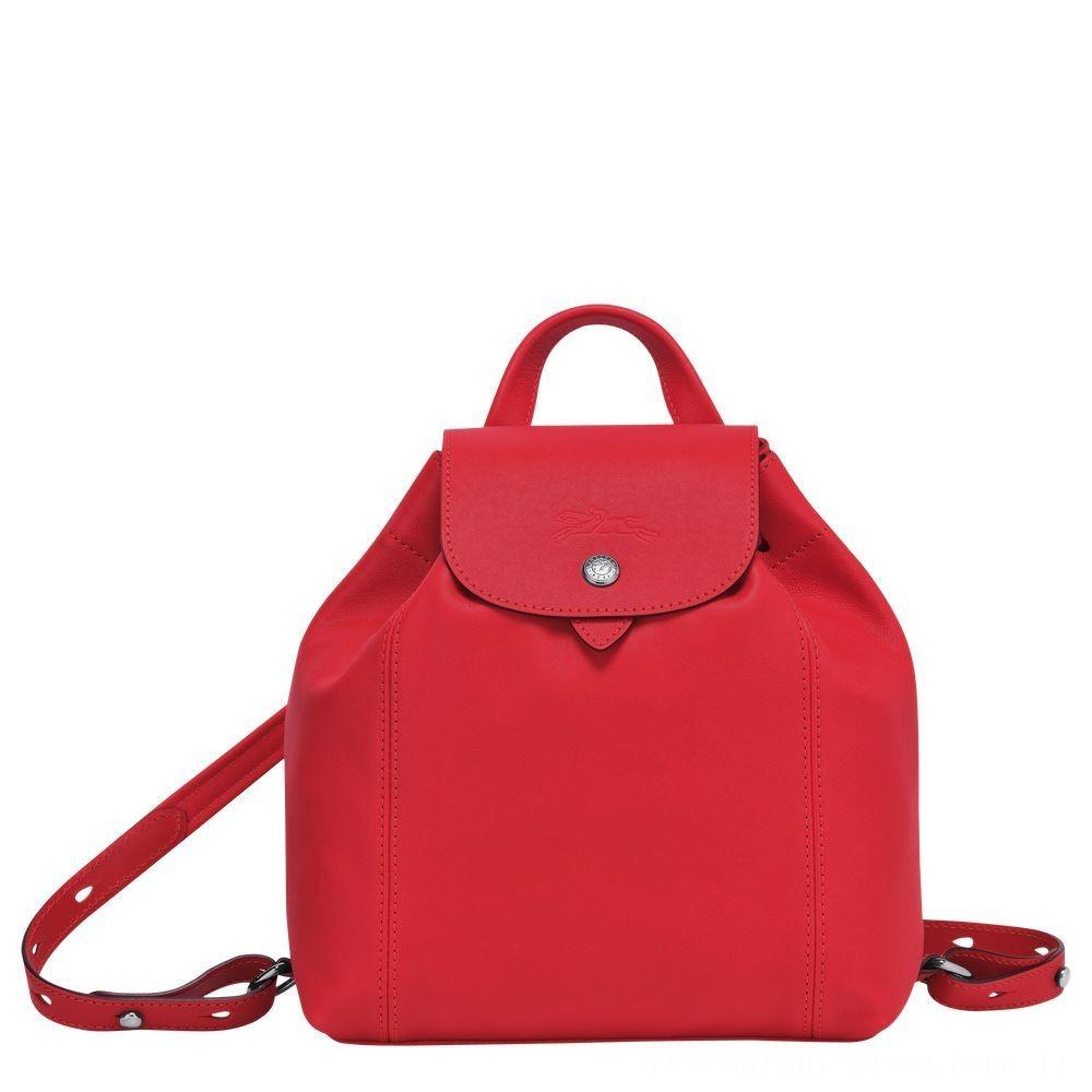 [Vente] - Le Pliage Cuir Sac à dos - Rouge