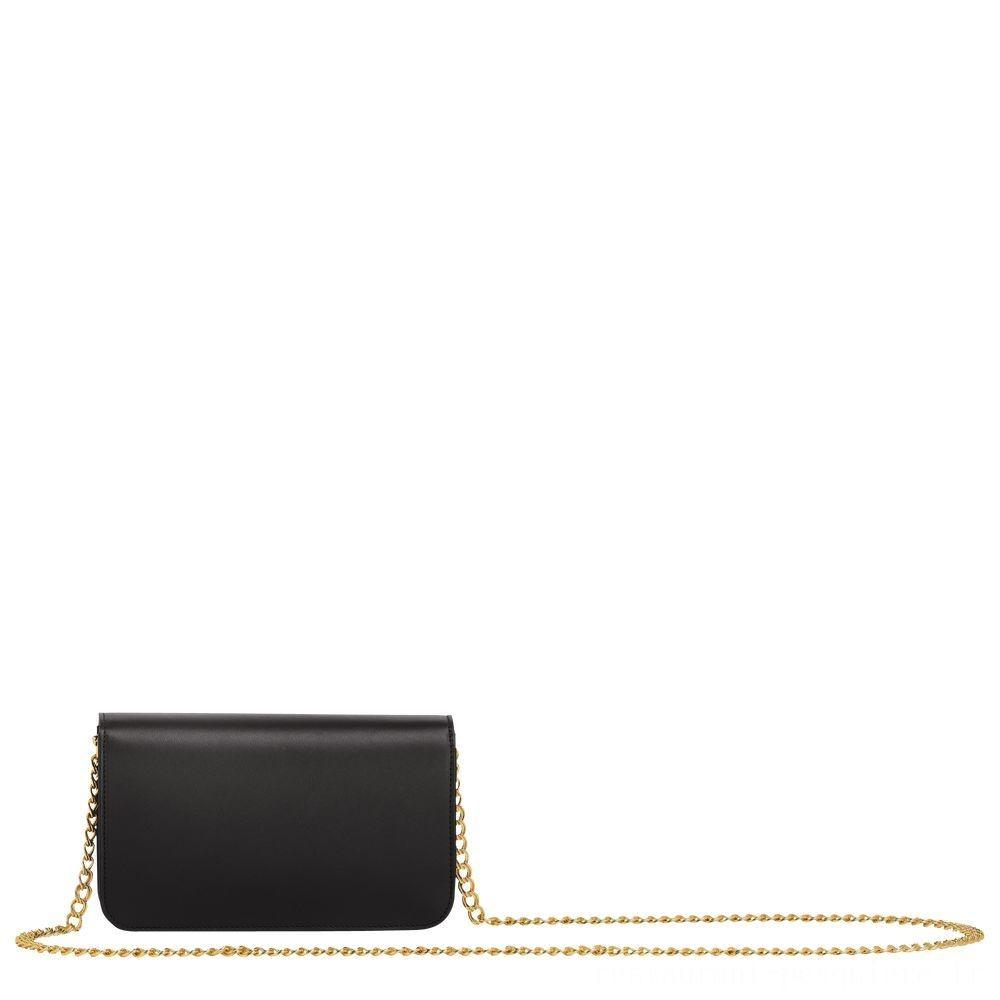 Mademoiselle Longchamp Pochette chainette - Noir Soldes