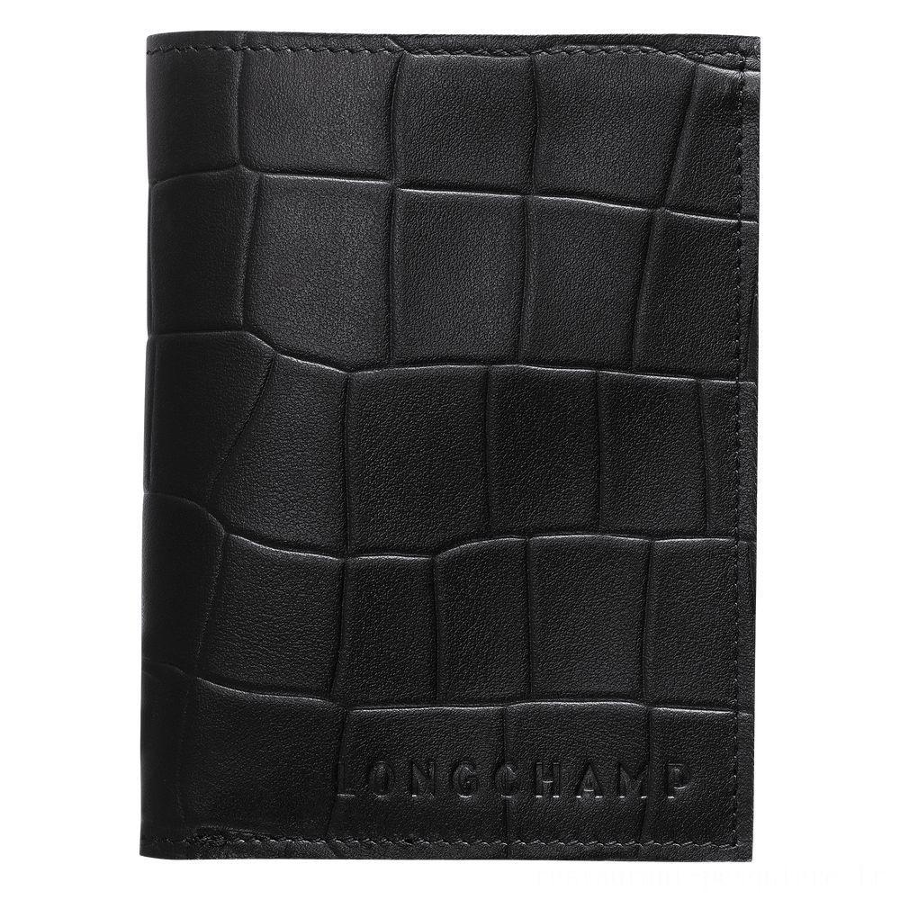 Croco Block Porte-cartes - Noir Pas Cher