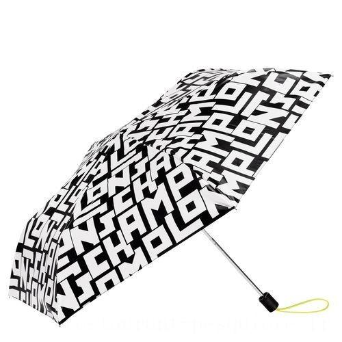 Le Pliage LGP Sac porté main - Noir/Blanc Soldes