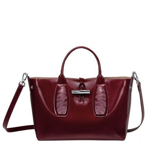 Roseau Sac shopping M - Rouge Soldes