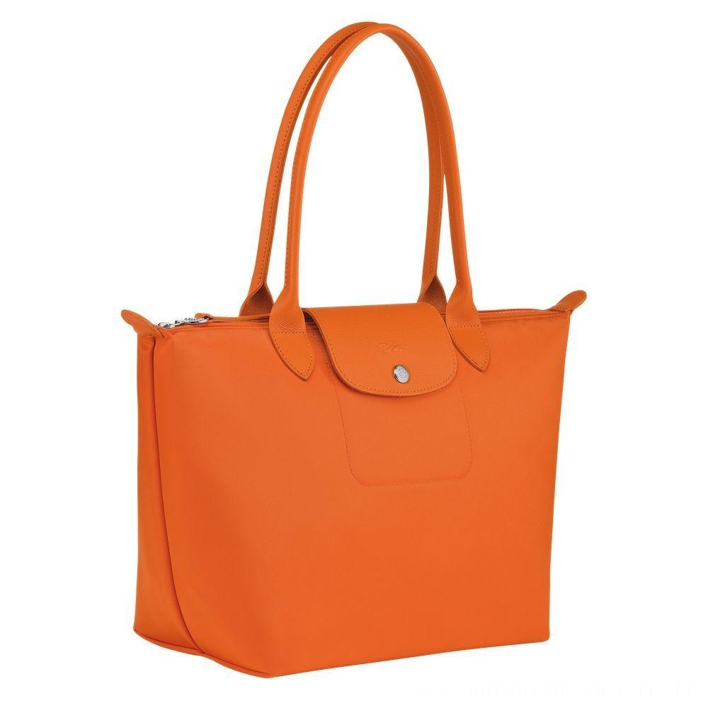Le Pliage Néo Sac porté épaule - Orange Pas Cher