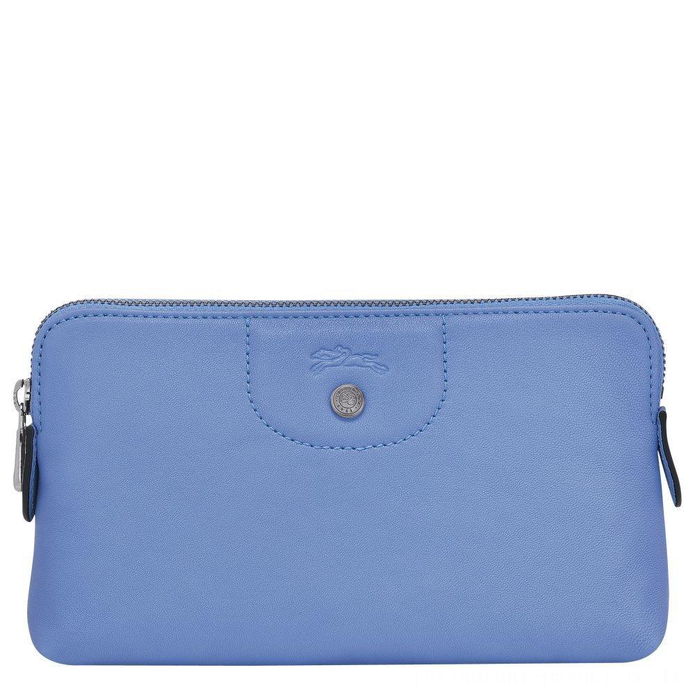[Soldes] - Le Pliage CuirTrousse/Pochette - Bleu
