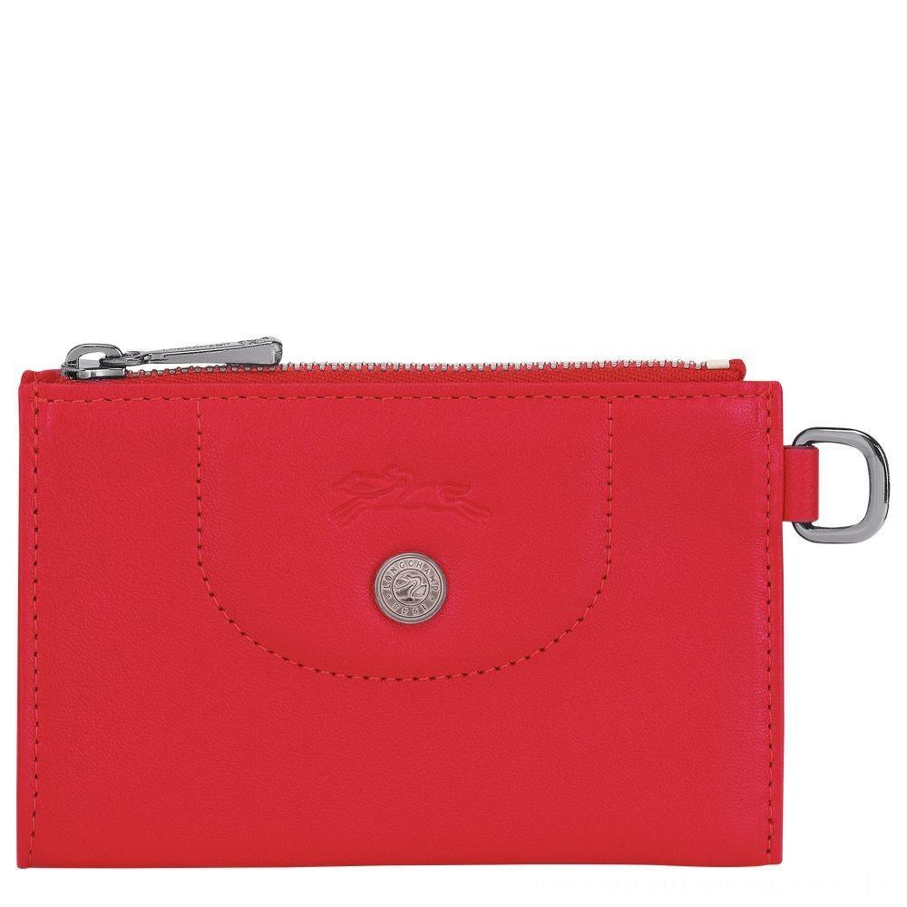 Le Pliage Cuir Etui clés - Rouge Soldes