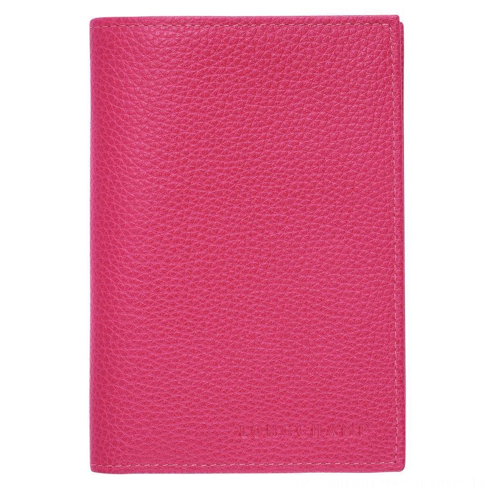 Le Foulonné Étui passeport - Rose Pas Cher