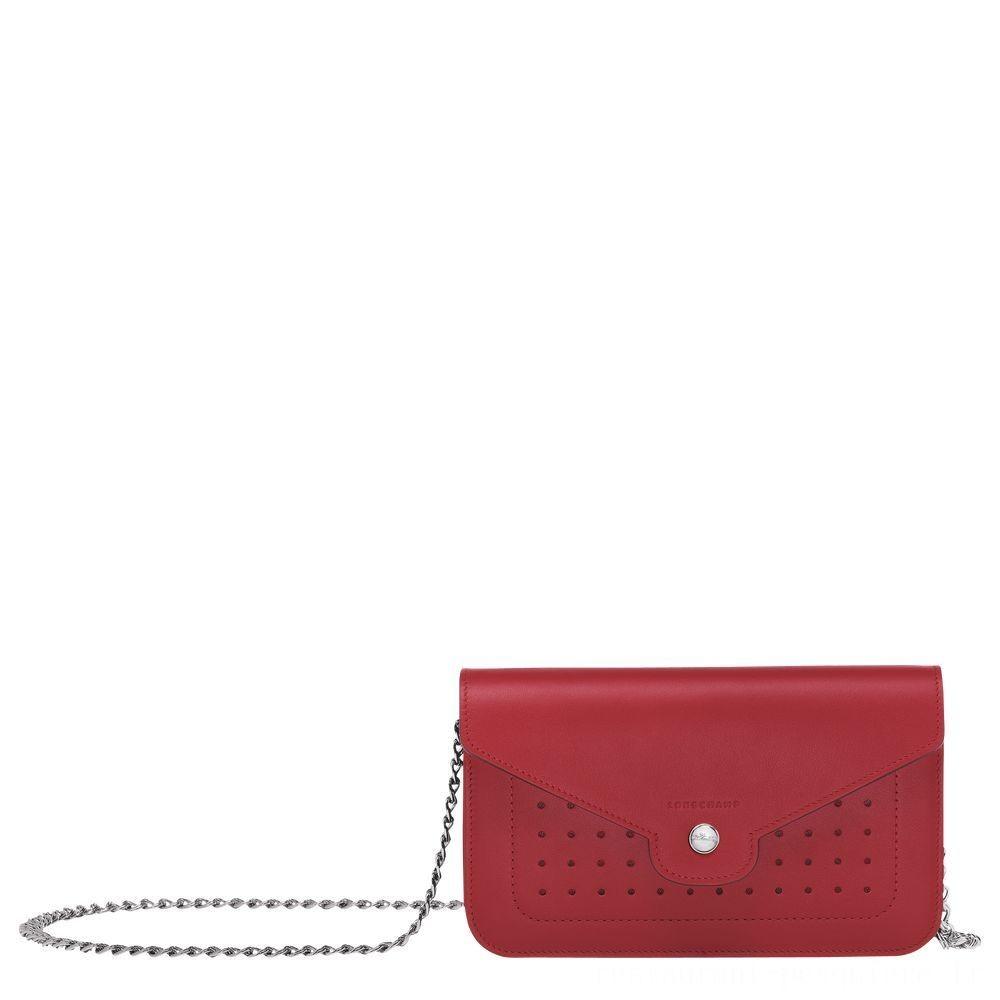 Mademoiselle Longchamp Pochette chainette - Grenat Soldes