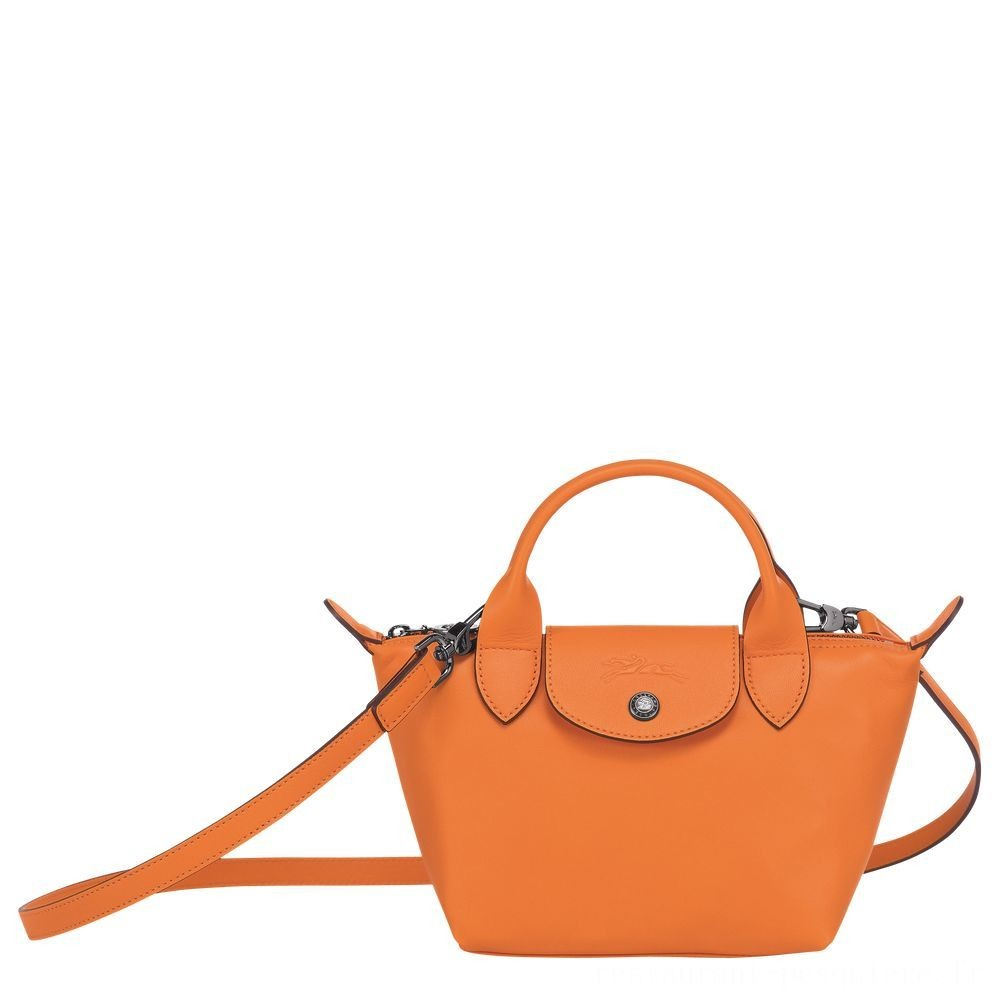 [Vente] - Le Pliage Cuir Sac porté main - Orange