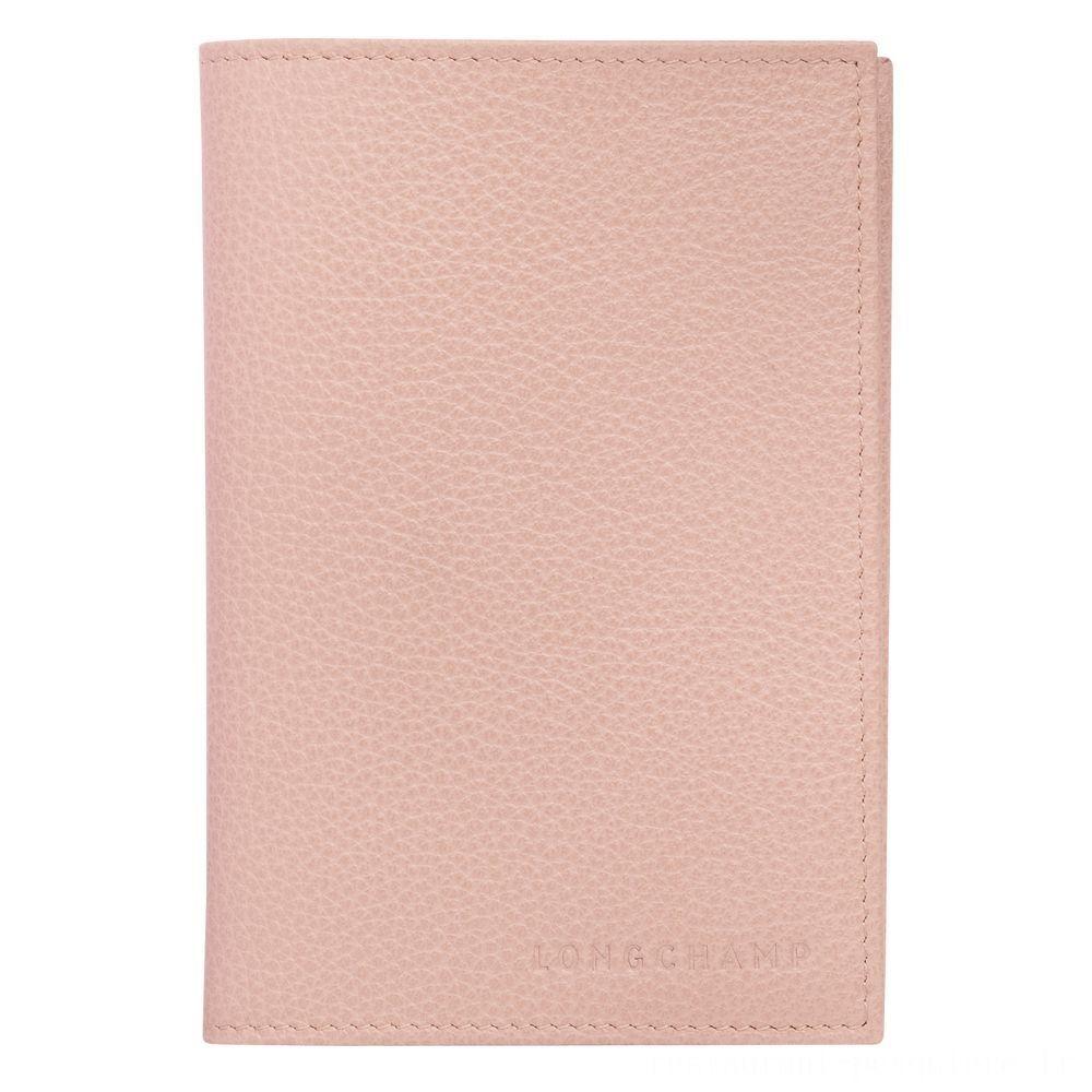 Le Foulonné Étui passeport - Poudre Soldes