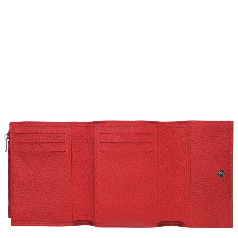 Roseau Portefeuille compact - Rouge Soldes
