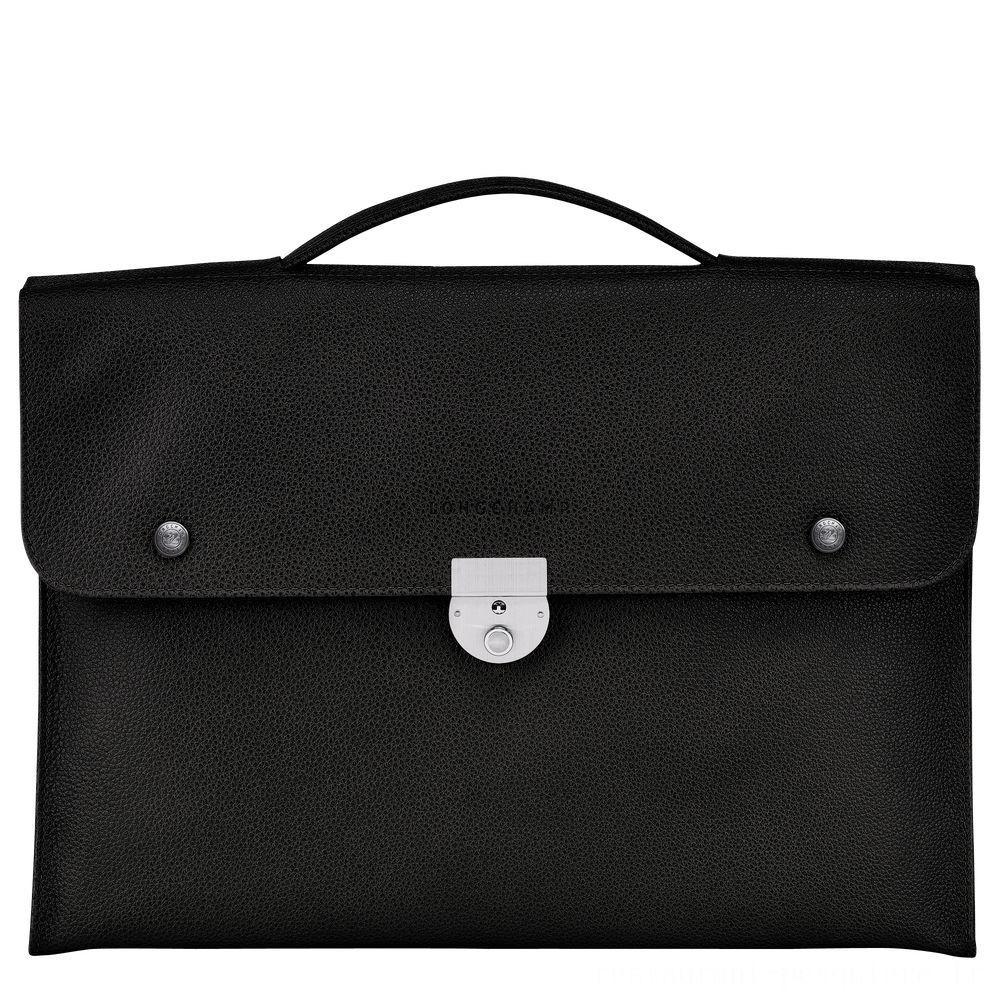 [Vente] - Le Foulonné Serviette S - Noir