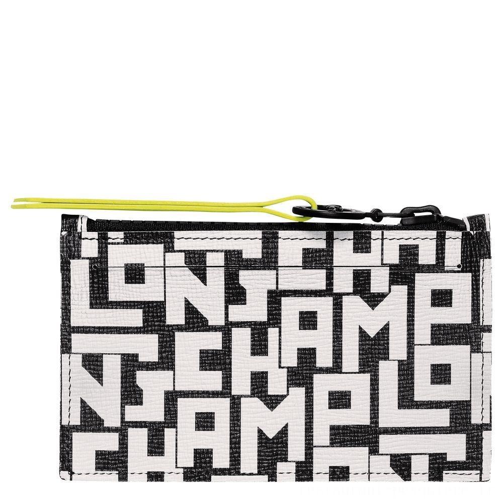 Le Pliage LGP Porte-monnaie - Noir/Blanc Pas Cher