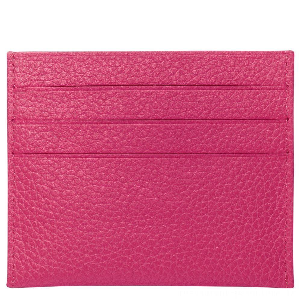 [Vente] - Le Foulonné Porte-cartes - Rose