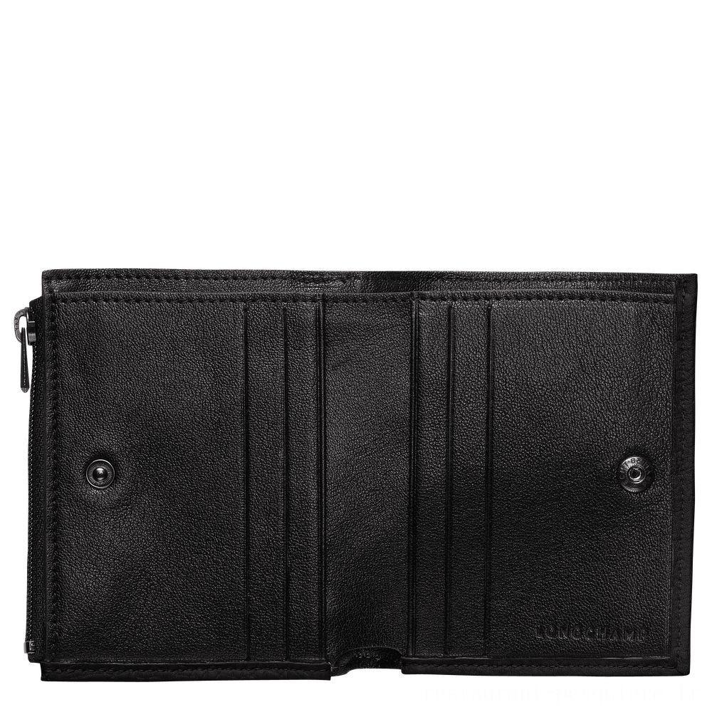 Essential Portefeuille compact - Noir Soldes