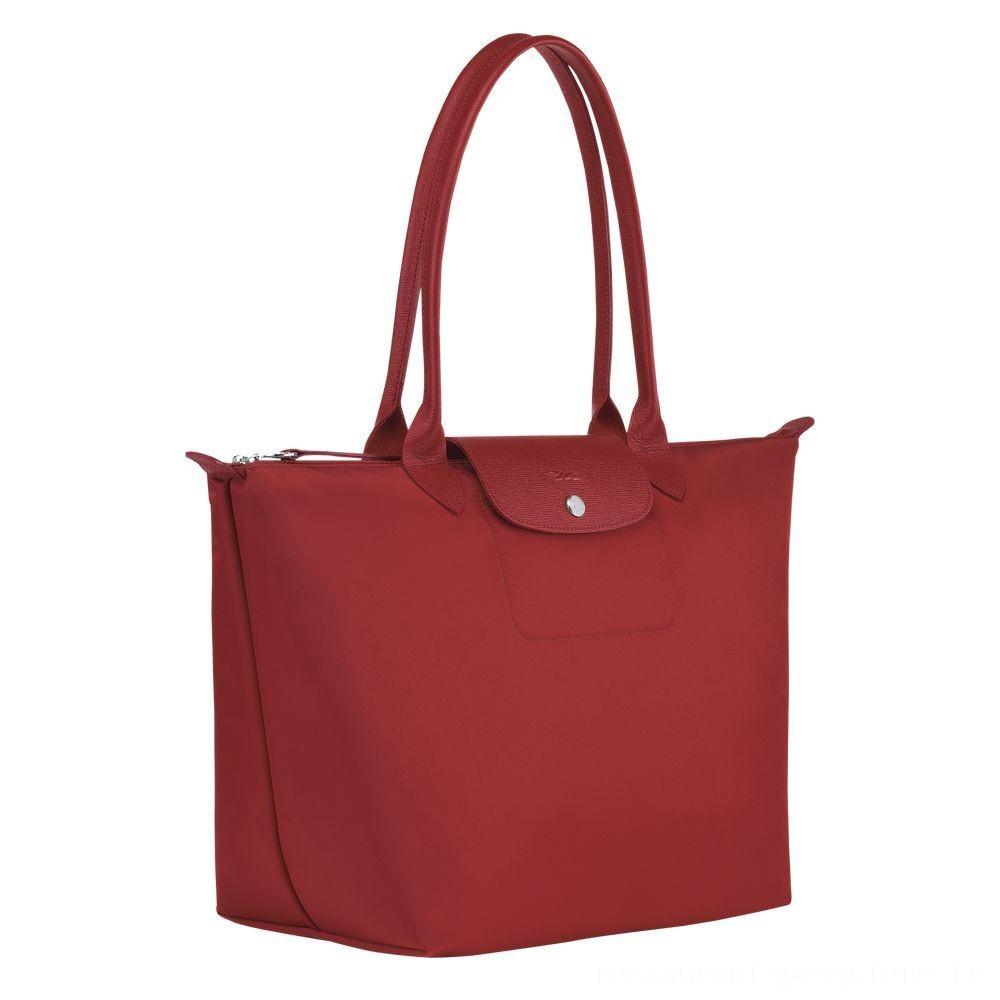 Le Pliage Néo Sac porté épaule - Rouge Soldes