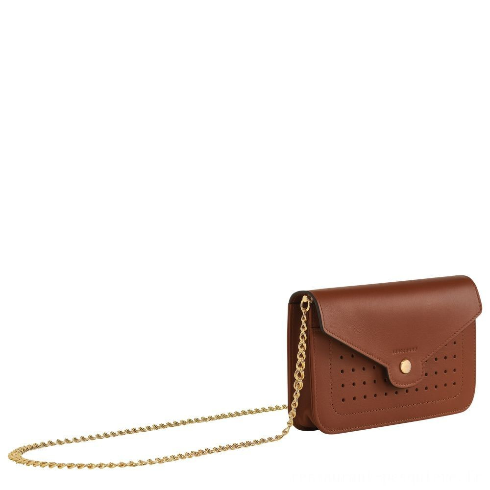 [Vente] - Mademoiselle Longchamp Pochette chainette - Cognac