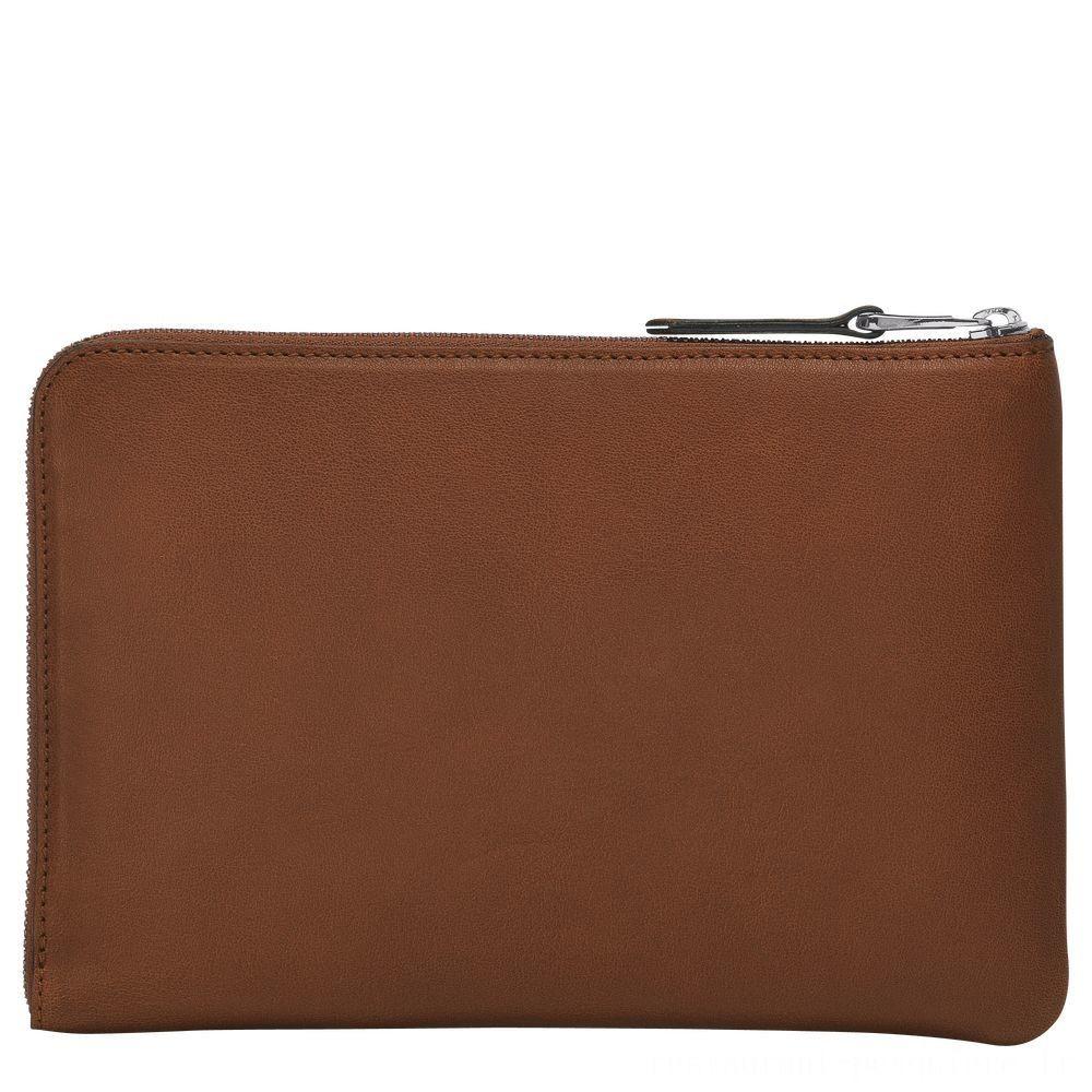 [Soldes] - Longchamp 3D Etui iPad Mini® - Cognac