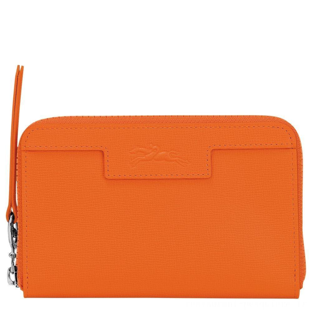 Le Pliage Néo Portefeuille compact - Orange Pas Cher