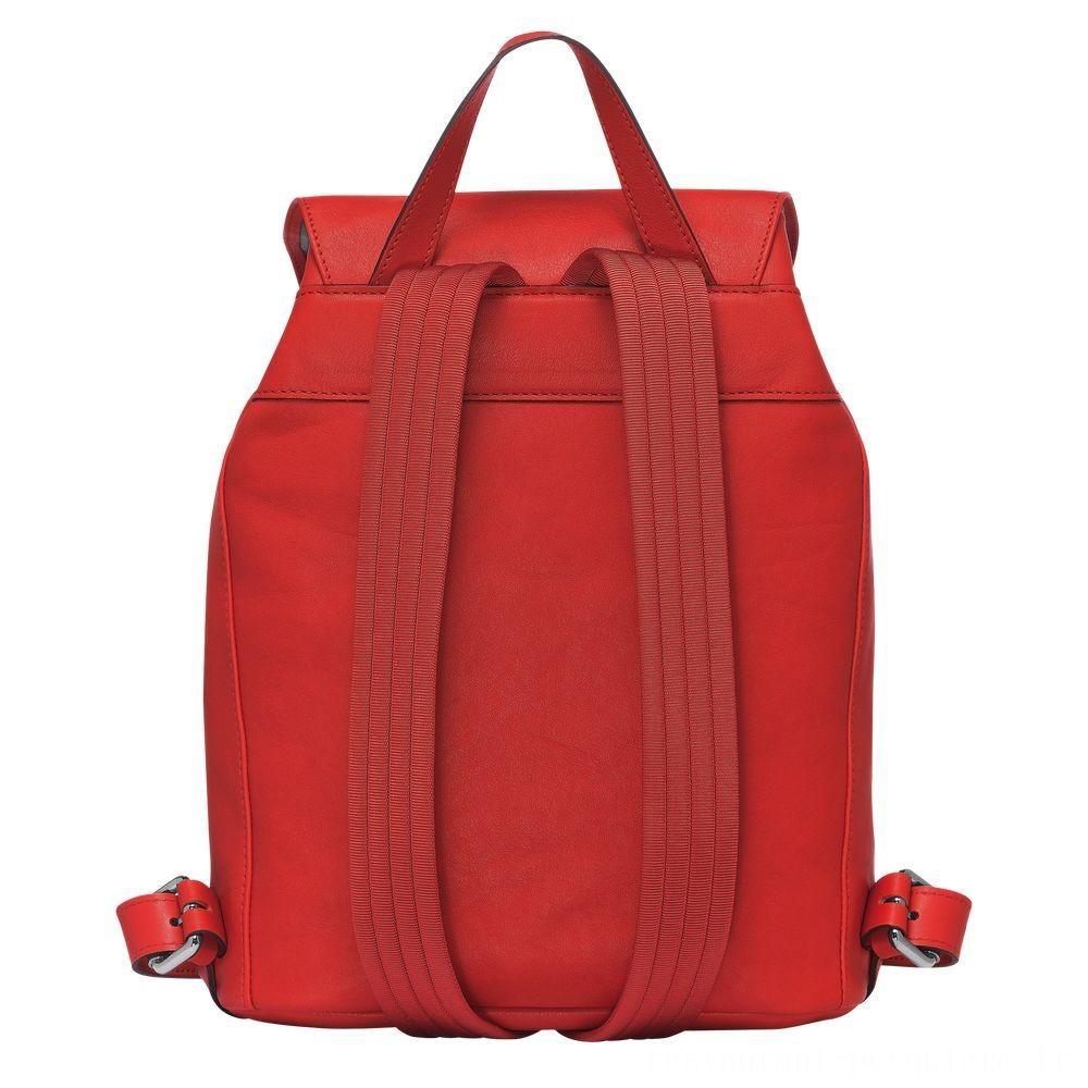 [Soldes] - Longchamp 3D Sac à dos S - Vermillon