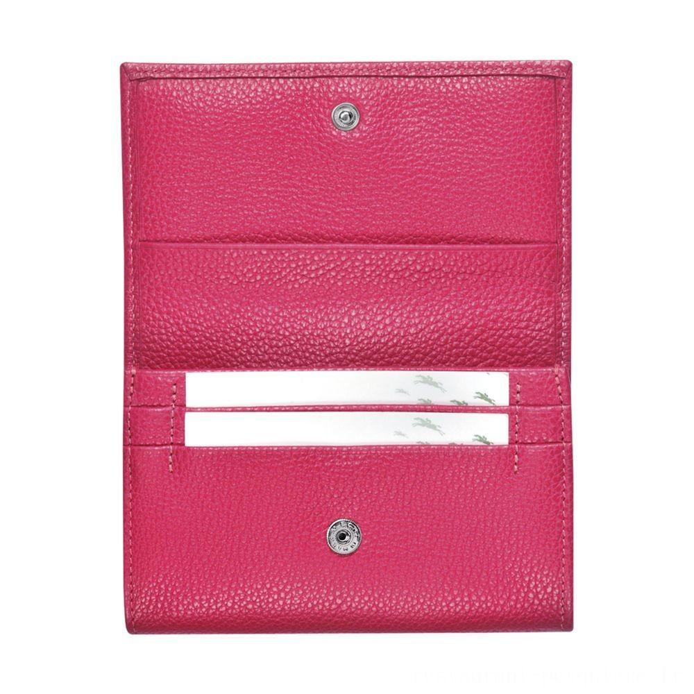 [Soldes] - Le Foulonné Porte monnaie - Rose