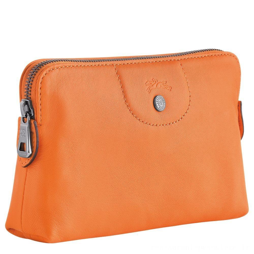 [Soldes] - Le Pliage CuirTrousse/Pochette - Orange