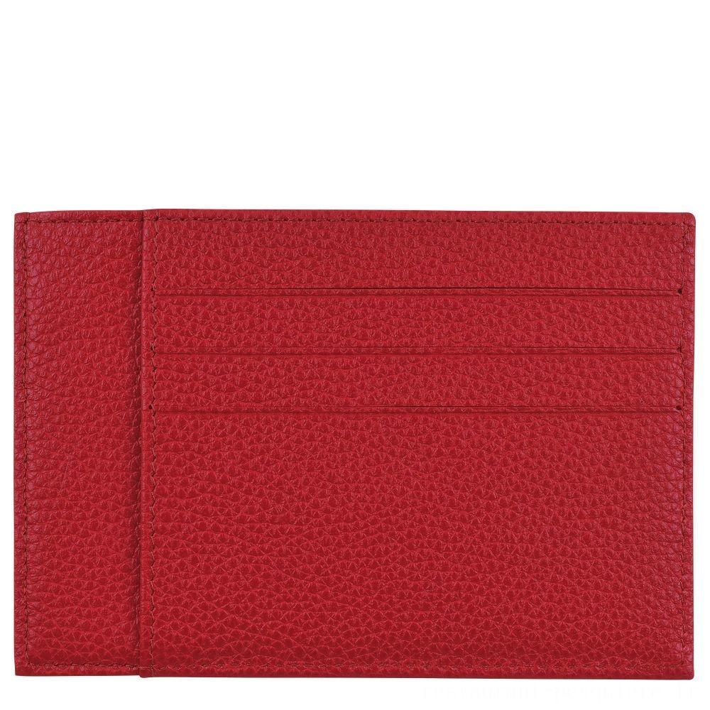 [Soldes] - Le Foulonné Porte-cartes - Rouge